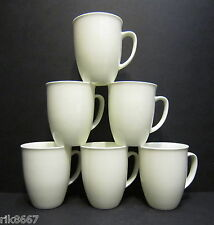 Set Of 6 White Tulip Shape Fine Bone China Mug Cups Beakers