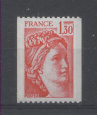 FRANCE TIMBRE ROULETTE 2063a N° rouge au verso SABINE rouge - LUXE **