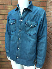 DENIM & SUPPLY BY RALPH LAUREN FEATHER/DOWN QUILTED DENIM JACKET/SHIRT SIZE L