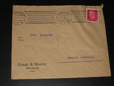 DR Deutsches Reich Heimatbeleg Brief Fa. Graab & Maurer WÜRZBURG 19.8.29