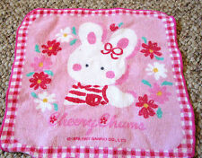 Sanrio Cheery Chums Bunny Small kids baby face hand mini towel pink white bunny