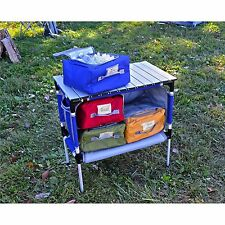 Portable Camping Table Roll-up Camp Kitchen Storage Organizer Cooler Sink Cook