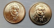 2007-P&D John Adams Presidential Dollars Uncirculated and Ungraded Us Coins