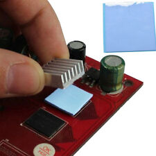 Top 100mmx100mmx1 Blue Heatsink Cooling Thermal Conductive Silicone Pad Cooler