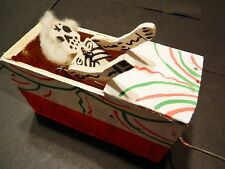 Reduced!!!  Mexican Day of the Dead wooden crank skeleton and coffin