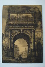 ARCH OF TITUS -ROMAN FORUM - ARTINI ARTS- ENGRAVNG ON NATURAL MIXTURE  MATERIAL