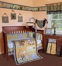 Baby Boutique - African Safari - 14 pcs Crib Bedding Set incl. Music Mobile