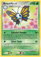 Beautifly Rare Pokemon Card Pt1 Platinum 21/127