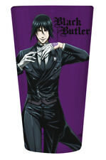 Black Butler Sebastian Purple Pint Glass Cup Anime Manga NEW