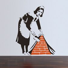 Banksy Maid in London Wall Sticker UK Stock