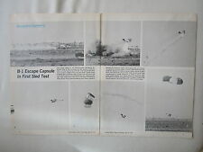 4/1973 ARTICLE 2 PAGES ROCKWELL B-1 BOMBER ESCAPE CAPSULE PIONEER PARACHUTE