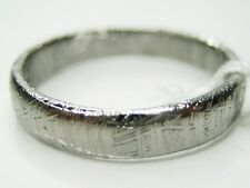 6/ L1/2  GIBEON IRON NICKEL METEORITE 4MM THIN BAND RING