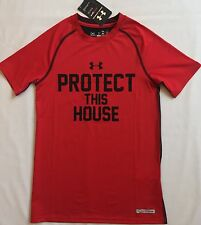 NWT youth Boys' YLG large UNDER ARMOUR baselayer TOP fitted compression shirt