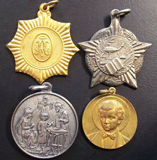 ANTIQUE LOT 4 EDUCATION CATHOLIC PRIZE AWARD SCENE RELIGIOUS, ST DOMINIC, MARIST