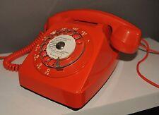 Téléphone à cadran orange Socotel 63 - Vintage 70'