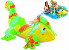NEW Intex Inflatable Smiling Gecko Rider Ride On Beach Toy Lilo Swim Pool Float