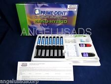 Dental Nano Hybrid Composite 7 Syringe Kit Set Made In USA PRIME DENT