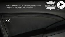 BLACK STITCHING 2X FRONT DOOR CARD TRIM LEATHER COVERS FITS HONDA CRV 2012-2016