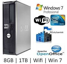 Dell Core 2 Duo 3.0GHz | 1TB | 8GB | WiFi | Windows 7 Professional Computer PC