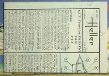 1/72ème PLAN DE MONTAGE POUR L.T.V. CRUSADER F-8 E - POUR KIT HELLER Réf. 259