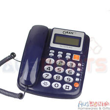 Desktop Telephone - Phone Home Office Corded Phone Caller ID Blue