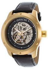 New Mens Invicta 18059 Specialty Mechanical Skeletonized Dial Leather Watch