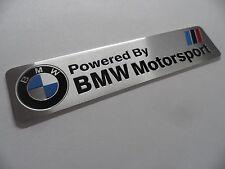 BMW Motorsport -- M Power Performance Schriftzug Alu 3D Aufkleber Sticker Emblem