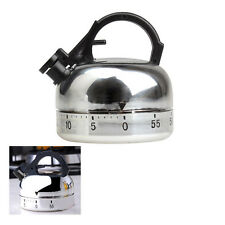 Teapot Kitchen Cooking Alarm Clock Ring Timer Mechanical Timer 60 Mins Counting