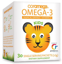 NEW COROMEGA OMEGA-3 KIDS SUPPORT BRAIN EYE OVERALL GROWTH DAILY BODY HEALTH