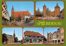 Gruesse aus Bernau Brandenburg Kirche Church Street Shops Commerce