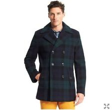 Tommy Hilfiger Mens Cashmere Blend Blackwatch Peacoat Size XL BNWT RRP £330 BNWT