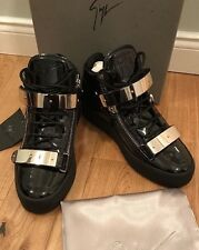 Giuseppe Zanotti Design Men's RU6021 Black Patent Leather Trainers Uk 8 Eu42 New