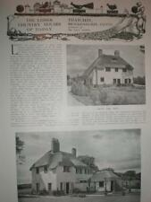 Photo article Thatchby house Brockenhurst Hampshire 1925