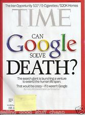 TIME Magazine CAN GOOGLE SOLVE DEATH? September 30, 2013