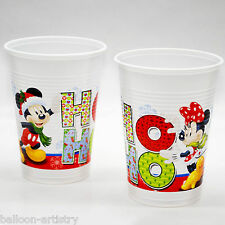 8 Red Disney Mickey Minnie Mouse Christmas Party 200ml Plastic Cups