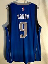 Adidas Swingman NBA Jersey Dallas Mavericks Rajan Rondo Blue sz L