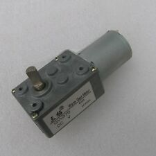 12V 5RPM 11kg.cm 0.3A Low Speed High-torque Reducer Gearbox DC Worm Gear Motor