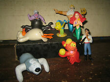 """8 RARE HTF DISNEY LITTLE MERMAID COLLECTABLE FIGURE'S  LOT , """" SOLD AS IS """""""
