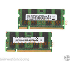 4GB 2X 2GB DDR2 667MHz 2RX8 PC2-5300 200PIN SODIMM Laptop Memory RAM Low Density