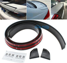 Black PU Rear Empennage Tail Trunk Fin Spoiler Wing Body Kit Trim For Mazda
