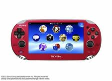 PlayStation PS Vita Wi-Fi Console Red PCH-1000 ZA03 Handheld Japanese New F/S