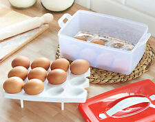 24 Egg Storage Box Container Carrier Caddy Caravan Camping Fridge Boat Portable