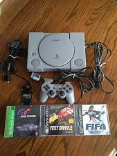 Sony Playstation 1 Video Game Console Gray 1999 With Memory Card