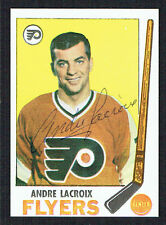 Andre Lacroix #98 signed autograph auto 1969 Topps Hockey Trading Card