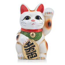 Large White Traditional Japanese Maneki Neko