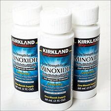 3 Month Supply Kirkland Minoxidil 5% Extra Strength Men Hair Regrowth Solution