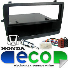 Honda Civic EP1 EP2 2000-05 Black Car Stereo Facia Panel & Fitting Kit FP-15-03B