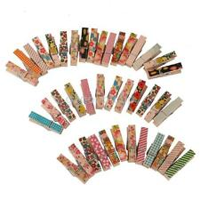 50pcs Pegs Christmas Wooden Craft Card Clips Mini Clothespins Holder Clothes