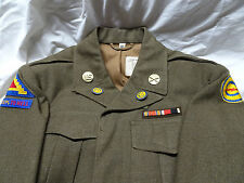 Post War US IKE Jacket German Made Constabulary Patch & DI's Seventh Army & Tab