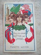 1916 RARA CARTOLINA 'FRONTE UNICA' CROCE VERDE PER COMASINA, GUASTALLA, ZACCARIA